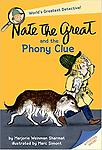 Nate the Great and the Phony Clue - Early one morning, a torn slip of paper with mysterious letters V I T A appears on Nate the Greats doorstep. He and his faithful dog, Sludge set off to solve this latest mystery.