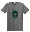 A -Osage Short Sleeve Cotton T-Shirt with O Logo_Grey - Front Screen Print with O Logo