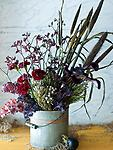 Bucket of Flowers - Create-Your-Own-Arrangement at home with purchase of this prepared bucket of flowers, greens, & sticks.