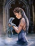 """Anne Stokes """"Elements"""" Incense Designer Fragrance - """" Water Dragon"""" @ The Mystics Touch - """" A chamber is infused by the relaxing scent of white musk, helps create a calming influence for the new arrival"""" 20 sticks per pack"""