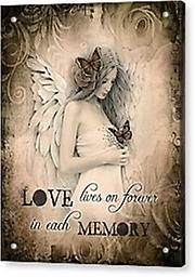 """ Love lives on forever"" Greeting card by Jessica Galbreth @ The Mystics Touch Blank Inside"