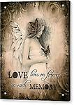 """ Love lives on forever"" Greeting card by Jessica Galbreth @ The Mystics Touch - Blank Inside"