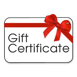 Gift Certificate (Choose Your Amount $10-100) Clinic Gift Certificate. Expires 12 Calendar Months After Purchase. Certificate Will Be Mailed Within 3 Business Days of Purchase. Can Add Multiple Certificates For Larger Amounts.