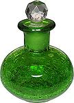 Crackle Perfume Bottle Reed Diffuser Emerald Green @ The Mystics Touch - Use as a decorative bottle or a diffuser. Comes with 1 pack of reeds