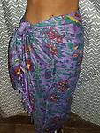 Sarong Bird of Paradise @ The Mystics Touch - 100% Silky Rayon Printed Tie Dye Color with Fringe 44x72""