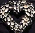 Small Mussel Shell Heart Wreath - Hand picked Mussel Shells