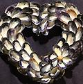 X-Small Mussel Shell Wreath - Hand picked Mussel Shells