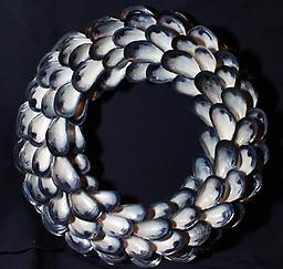 Large Infinity Mussel Shell Wreath Hand picked Mussel Shells
