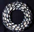 Large Infinity Mussel Shell Wreath - Hand picked Mussel Shells