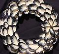 Medium Mussel Shell Wreath With Flower - Hand picked Mussel Shells