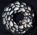 X-Small Mussel Shell Wreath With Flower - Hand picked Mussel Shells