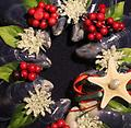 Mini Wreath (Red) - Hand picked Mussel Shells