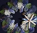 Mini Wreath (Blue) - Hand picked Mussel Shells