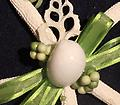 Starfish Ornament (Green) - Carefully crafted from both local and carribean shells