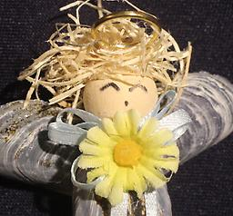 Blonde Angel Ornament Carefully crafted from both local and carribean shells