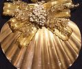 Gold Scallop Ornament - Carefully crafted from both local and carribean shells