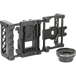 Beastgrip Pro Smartphone Lens Adapter and Wide-Angle Lens Beastgrip Pro Smartphone Lens Adapter and Camera Rig System with Wide-Angle Lens. Easy access to phone buttons, USB and charging ports, modular design with removable lens mount assembly and handle.