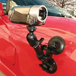 Delkin Fat Gecko Camera and Camcorder Mount Designed to eliminate vibration while being used on moving objects, the Fat Gecko Dual Mount allows you to capture professional stills & videos from unique, exciting perspectives.