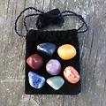 Crystal Kits/Mojo Bags - Mystics Chakra Bag @ The Mystics Touch - A wonderful little Mojo bag I put together to aid you in relining, cleaning and purifying your Chakra's. All of the stones are cleaned, charged and ready to work in partnership ( see below)