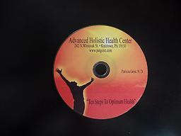 "CD - ""Ten Steps To Optimum Health"" This is an excellent teaching on the ten simple steps you can begins now to obtain peak optimum health. You will be inspired to take the necessary changes to live to the fullest."