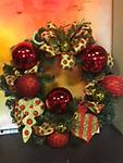 Christmas Red & Green Wreath - Festive and Fun