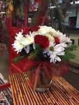 Christmas Fresh Arrangement - Beautiful arrangement of red and white to spread Christmas spirit