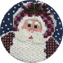 December 2017 Ornament Exclusive Diversions Needlepoint hand painted canvas, threads and stitch guide by Mary Lou Kidder. SHIPPING INCLUDED!