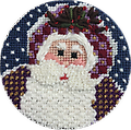 December 2017 Ornament - Exclusive Diversions Needlepoint hand painted canvas, threads and stitch guide by Mary Lou Kidder. SHIPPING INCLUDED!