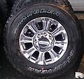 """18"""" Ford Super Duty F250 F350 Chrome / PVD Rims Tires - Factory New Takeoff wheels and tires removed from a 2017 Super Duty truck. Under 50 miles of use. Chrome/PVD wheels with LT275/70R18 Goodyear Wrangler Adventure w/ Kevlar."""