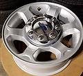 "17"" Ford F250 F350 Alloy Wheels Chrome Caps - Set of 4 OE F250 F350 Alloy rims and chrome center caps."