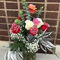 Dozen mixed glitter roses - Dozen mixed roses with glitter!!!!!