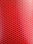"""Red Transparent Ctek 12""""x 12""""x 1/4"""" (1/8"""" cell) - Unique material made from an aircraft grade aluminum honeycomb mesh encased in a high impact epoxy resin."""