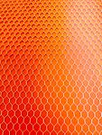 """Orange Transparent Ctek 6""""x 6""""x .3/8"""" (1/8"""" cell) - Unique material made from an aircraft grade aluminum honeycomb mesh encased in a high impact epoxy resin."""