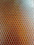 """Brown Transparent Ctek 6""""x 6""""x .3/8"""" (1/8"""" cell) - Unique material made from an aircraft grade aluminum honeycomb mesh encased in a high impact epoxy resin."""