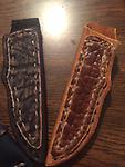 large knife sheath buck knife folders - This handmade leather sheath is hand made for most buck type knives.