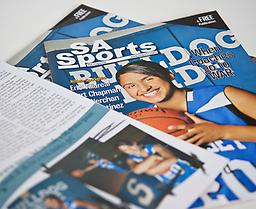 SAsports Magazine Yearly Subscription Get the SAsports Monthly Magazine delivered to your mailbox! 12 issues featuring the best high school student athlete spotlight articles, covering all sports and activities.