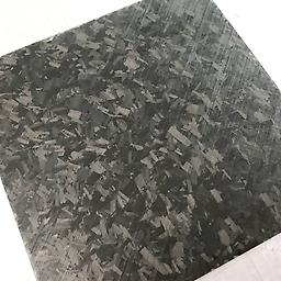 "Shred Carbon Fiber (Clear Resin) (6""x 6""x 1/2"") A unique carbon fiber material. 1/4"" pieces of 12k carbon encased in a high impact resistant epoxy resin. Ideal for Knife handle scales as well as other projects that require an eye catching material."