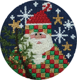 February 2018 Ornament Exclusive Diversions Needlepoint hand painted canvas, threads and stitch guide by Mary Lou Kidder. SHIPPING INCLUDED!
