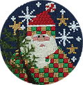 February 2018 Ornament - Exclusive Diversions Needlepoint hand painted canvas, threads and stitch guide by Mary Lou Kidder. SHIPPING INCLUDED!