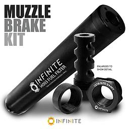 1/2-28 to 13/16-16 AR-15 Premium Steel Muzzle Brake Filter Kit Buy these accessories together and save! Replace your existing muzzle brake with one that contains 13/16-16 (oil filter) outer threads!