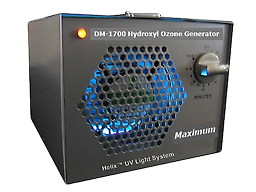 Maximum 1700 Odor Removal Machine Eliminator Ionizer Maximum Dual Mode Odor Removal Machine is designed for the toughest jobs. This UV, hydroxyl and OPTIONAL ozone generator will remove even the strongest odors and kill mold.