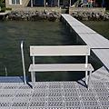 4' Bench Assembly ( Color of Choice ) - Pure Harbor's 4' Bench Assembly comes in 3 color choices: White - Grey - Tan. The bench is made out of top grade aluminum & is powder coated to color. It can be installed to any dock system!