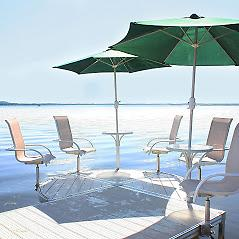 """Pure Harbor Patio System Pure Harbor Patio System is a """"One of a Kind Option"""". It creates more patio space on a already crowded dock. Add Chairs, Table etc Pure Harbor Patio Is the only one on the Market with Vinyl Aluminum."""