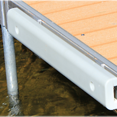Dock Bumpers ~ 3' to 4' Pure Harbor ~ 3' & 4' Dock Bumpers. They are made out of sturdy plastic to withstand any Damage from a boat while leaving no marks on the boat. Long Lasting & can be installed to Any Dock System!