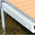 Dock Bumpers ~ 3' to 4' - Pure Harbor ~ 3' & 4' Dock Bumpers. They are made out of sturdy plastic to withstand any Damage from a boat while leaving no marks on the boat. Long Lasting & can be installed to Any Dock System!