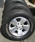 "17"" Toyota Tacoma Alloy Rims & Tires - Set of 4 used alloy rims with over 60% tread. Wheels, Michelin tires and center caps included."