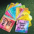 Affirmations for the Soul Cards (Large) - Christalene's larger set of inspirational cards with fun, positive affirmations and whimsical designs. Created to enhance your ability to connect to your inner wisdom. Packaged in an organza bag.