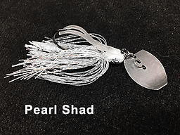 Stump Crusher Bladed Jig 075 STYLE: Bladed Jig - - COLOR: Pearl Shad