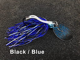 Stump Crusher Bladed Jig 076 STYLE: Bladed Jig -- COLOR: Black & Blue