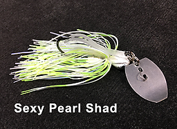 Stump Crusher Bladed Jig 082 STYLE: Bladed Jig -- COLOR: Sexy Pearl Shad